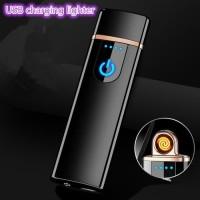 Korek Api Elektrik Fingerprint Touch Sensor - JL706 - Black - JMNHA