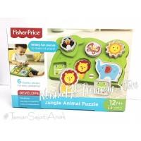 Fisher Price Jungle Animal Puzzle Mainan Bayi Mainan Puzzle