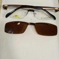 frame kacamata rudy 7507 clip on free lensa min anti uv