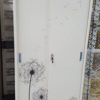 lemari sliding 2 pintu besi