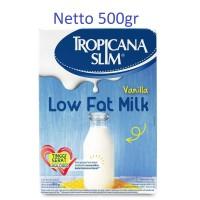 Susu Rendah Lemak Tropicana Slim Milk Low Fat Vanilla 500gr