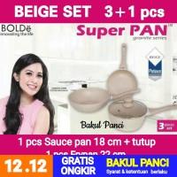 WAJAN PANCI SUPER PAN BOLDe | Granite Ceramic Cookware Frypan BEIGE
