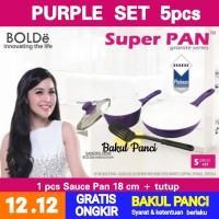 WAJAN PANCI SUPER PAN BOLDe Purple Set - CERAMIC COOKWARE SET Frypan