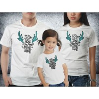 Baju kaos couple family natal - Deer Antlers Xmas
