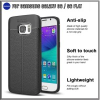 Samsung Galaxy S6 FLAT Case Casing Slim Silicon Cover - Hitam