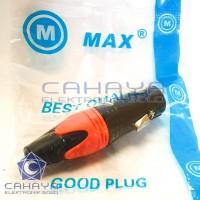 Cover Canon Max Besi Female XLR 3 Pin Soket Mixer Audio Mic Hitam