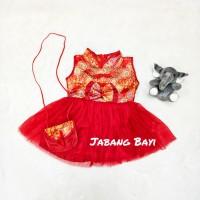Baju Dress Shanghai Cheongsam Chinese Imlek Anak Bayi Perempuan Tas