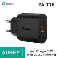 Aukey PA-T16 Charger 2 Port USB Qualcomm Quick Charge 3.0 - Hitam