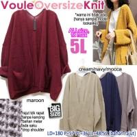 Voule Oversized Knit OUTER RAJUT CARDIGAN POLOS BASIC SUPER JUMBO 5L