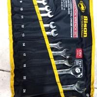 Kunci Ring Pas Set - Wrench Set 11 pcs Bison 8-24 mm