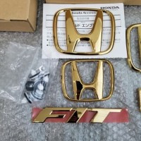 Gold Emblem Honda Fit Jazz GE8