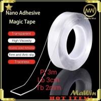 Nano Magic Tape Transparant - Double Tape Super Kuat - 300 CM x 3 CM