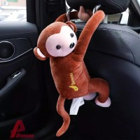 Kotak Tissue Boneka Monyet Lucu Tempat Wadah tisu Mobil Dapur Kamar