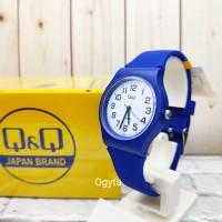 Q&Q QQ QnQ Jam Tangan Wanita Anak-Anak Karet Biru T CP02J805Y Original
