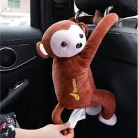 wadah tissue tempat tissue hiasan mobil hiasan kamar boneka monkey