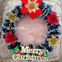 Krans Natal/Hiasan Natal Pintu Rumah/Circle Chrismas Wreath-MIX color