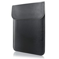 Tas Laptop Sleeve Case For Macbook Air 13'' Leather Waterproof - Black