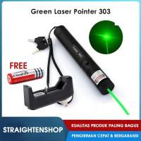 Laser Hijau Senter Green Laser Pointer Recharge 303 10KM 1