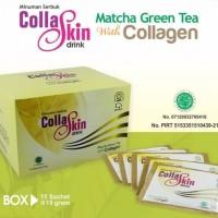Collaskin drink matcha greentea with collagen Kaya manfaat