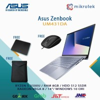 "LAPTOP ASUS ZENBOOK UM431DA-AM501T RYZEN 5 3500U 8GB SSD 512GB 14"" W10"