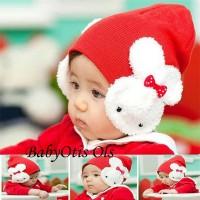 Topi Kupluk kelinci Anak Bayi Bunny Ear Hat