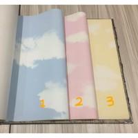 Wallpaper Vinyl Premium Awan Biru Pink Kuning