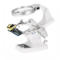 Helping Hand Kaca Pembesar Alat Pegangan Solder Lampu LED TH-7023