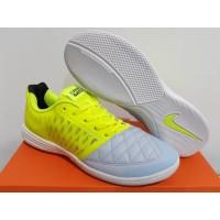 Sepatu Futsal Nike Lunar Gato II Sky Volt White