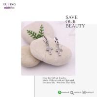 XUPING ANTING JURAI MOTIF SALIB SILVER ZIRCON 0172190205