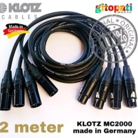 kabel aksesoris sound system KLOTZ MC2000 xlr male to female 2 meter