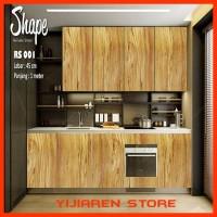 Wallpaper Kitchen Set Remake Sheet | RS 001 - Motif Kayu Coklat