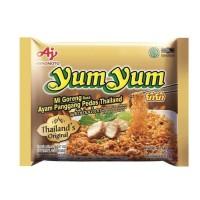 Ajinomoto yum yum mie goreng rasa ayam panggang pedas thailand 70 gram