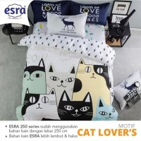 sprei single katun lokal super adem motif cat lovers