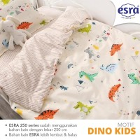 sprei single katun lokal super adem motif dino kids