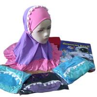 Jilbab anak bayi balita pom 2 warna kerudung hijab anak bayi batita