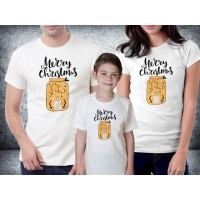 Baju kaos couple family natal - Merry Christmas Jar