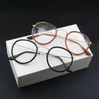 Frame Kacamata ala korea oval kekinian