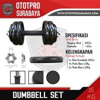 Paket Dumbbell Set 15kg /Dumbel/Dumbell/Dumbbel/Dambel/Barbel/Barbell
