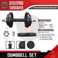 Paket Dumbbell Set 10kg /Dumbel/Dumbell/Dumbbel/Dambel/Barbel/Barbell