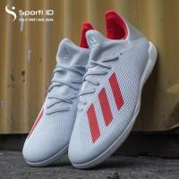 Sepatu Futsal Adidas X Tango 19.3 IN Silver Metallic/Hi-Res Red/White