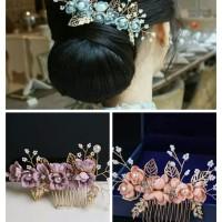 Bride Wedding Hair Accessories AR029 / Headpiece / Aksesoris crystal