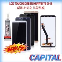 BONUS LEM B7000 LCD TOUCHSCREEN HUAWEI Y6 2018 ATU-L11 L21 L22 LX3