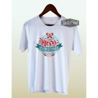 Kaos Natal Dewasa-Anak 08 Cotton Combed