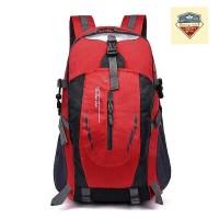 (IMPORT) Tas Backpack Pria Wanita Hiking Anti Air / Tas Kerja - Merah