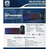 Phillips SPT-66214BK Gaming Keyboard & Mouse