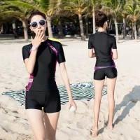 Baju Renang Wanita Dewasa Sport Lengan Pendek & Celana Pendek L-5XL