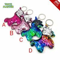 Gantungan Kunci Tas Unicorn Sequin Flip - Mainan Anak Gantung Kunci