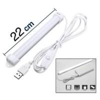Lampu Neon USB Strip LED 22 Belajar Kerja Tidur Dapur Meja Baca 22cm