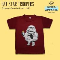 Baju Kaos Anak Cowok Laki - Laki Fat Startroopers Star Wars Premium