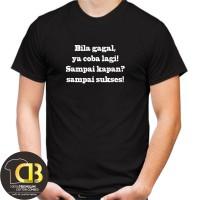 T-Shirt Premium Kaos Baju Distro Pria Wanita Round Neck Kata-kata K06